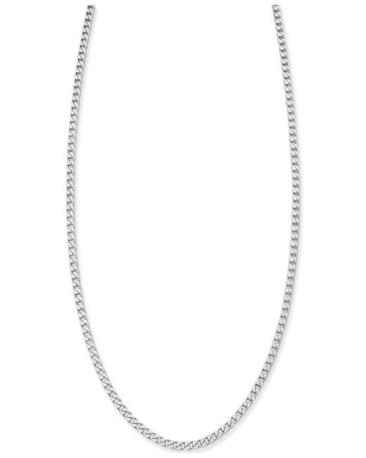 Macy's - Metallic Franco Diamond-cut Chain Necklace In Sterling Silver - Lyst