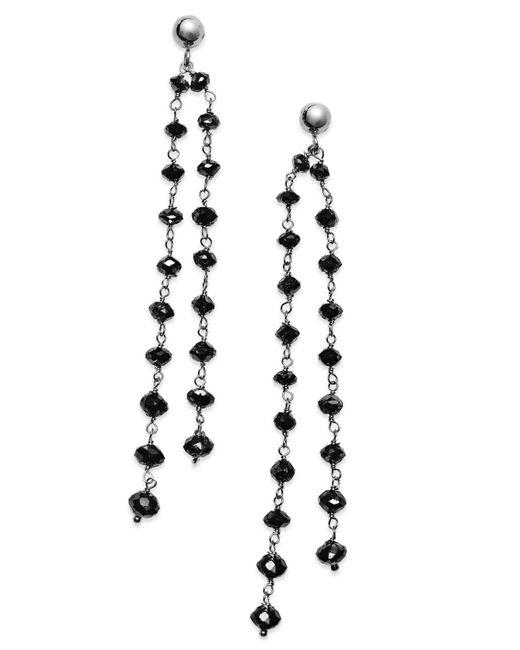 Macy's - Black Diamond Double Strand Earrings In 14k White Gold (7 Ct. T.w.) - Lyst
