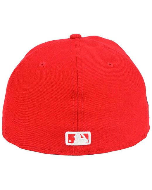 57315befcc28e9 ... KTZ - Red Washington Nationals Ultimate Patch Collection Front 59fifty  Fitted Cap for Men - Lyst