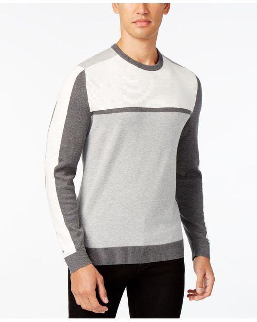 Alfani | Blue Men's Colorblocked Sweater for Men | Lyst
