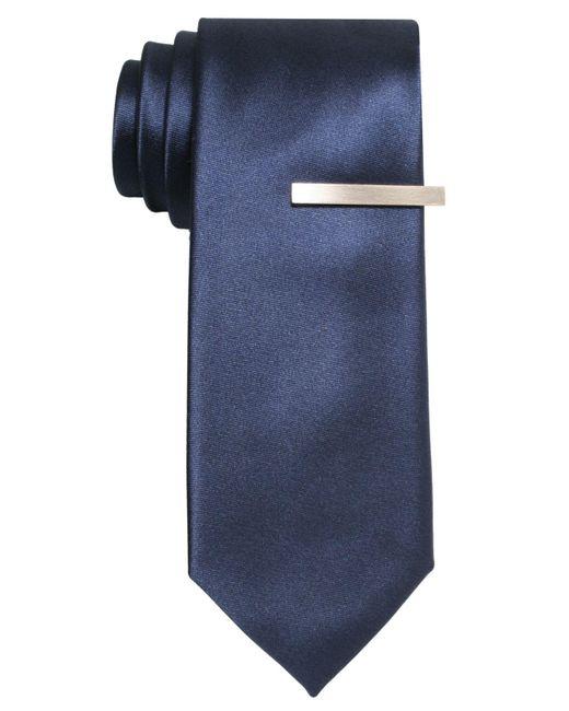 Alfani - Blue Pindot Skinny Tie for Men - Lyst