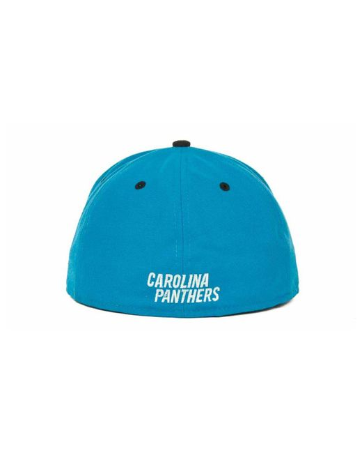 the best attitude f3a56 a8704 ... KTZ - Black Carolina Panthers 2 Tone 59fifty Fitted Cap for Men - Lyst