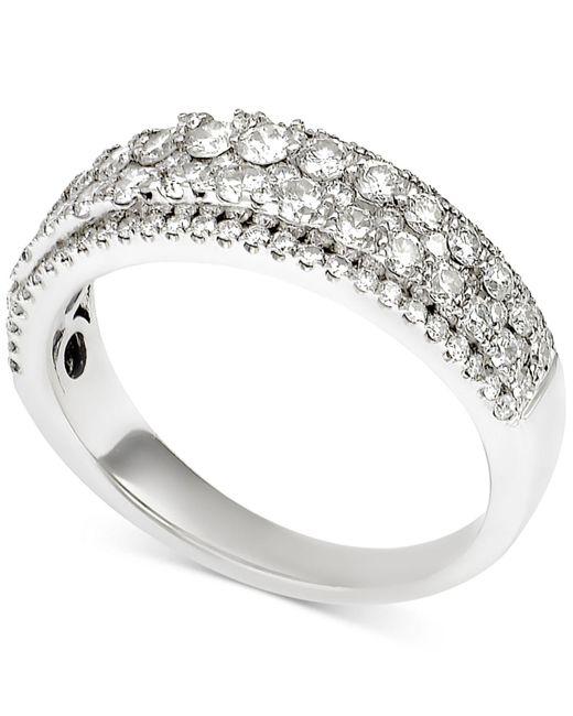 Macy's | Metallic Diamond Two-row Band (1 Ct. T.w.) In 14k White Gold | Lyst