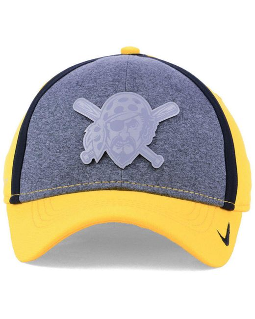 uk availability be823 bf604 ... free shipping nike multicolor pittsburgh pirates team color reflective  swooshflex cap for men lyst 8aa3d a5fbd