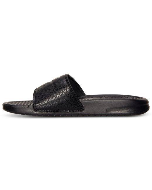 08a390386108b7 ... Lyst Nike - Black Men s Benassi Jdi Slide Sandals From Finish Line for  Men ...