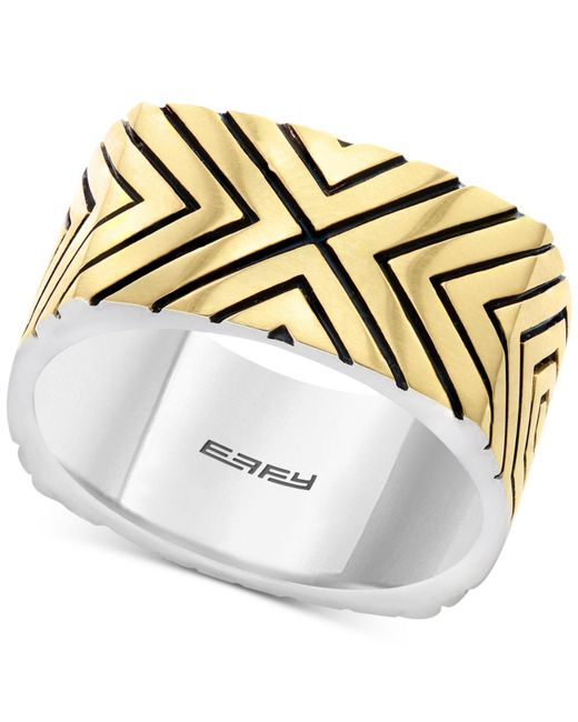 Effy Collection - Metallic Statement Ring In Sterling Silver & 18k Gold-plate - Lyst