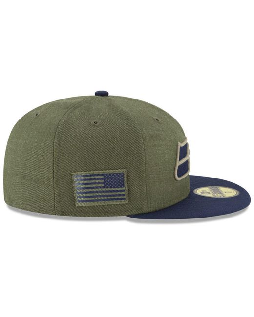 sports shoes 88bcf 729ac ... KTZ - Green Seattle Seahawks Salute To Service 59fifty Fitted Cap for  Men - Lyst ...