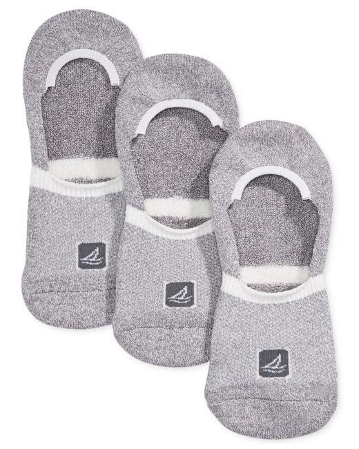 Sperry Top-Sider - Gray Athletic Compression Liner Socks 3-pack for Men - Lyst