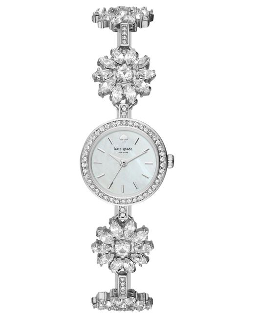 Kate Spade - Metallic Women's Daisy Chain Silver-tone Stainless Steel And Crystal Bracelet Watch 20mm Ksw1315 - Lyst