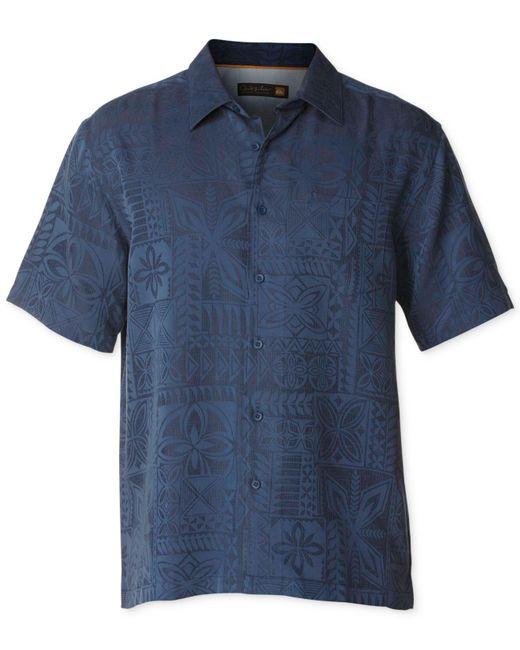 Quiksilver | Blue Waterman Collection Aganoa Bay 3 Jacquard Shirt for Men | Lyst