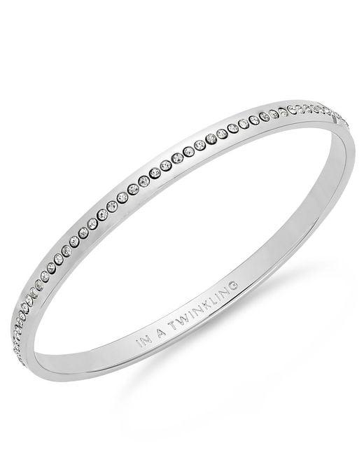 kate spade new york   Metallic Crystal Pave Idiom Bangle Bracelet   Lyst
