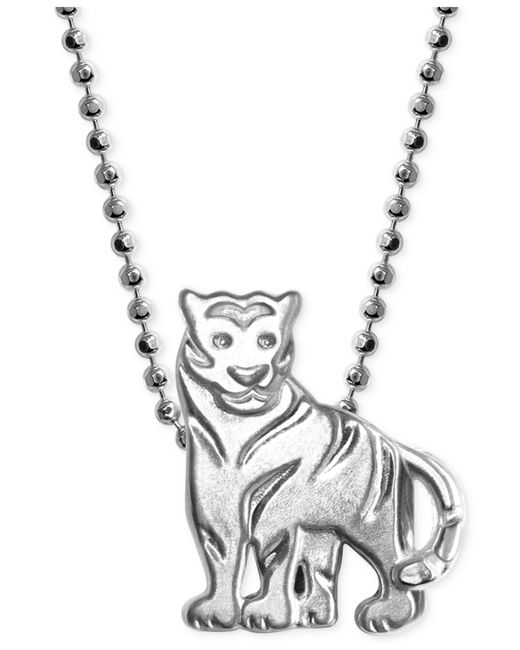 Alex Woo | Metallic Little Tiger Zodiac Pendant Necklace In Sterling Silver | Lyst