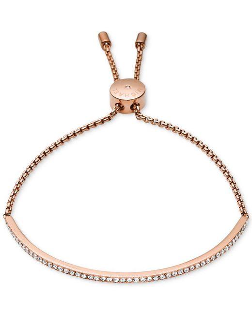 Michael Kors   Pink Clear Bar Slide Bracelet   Lyst