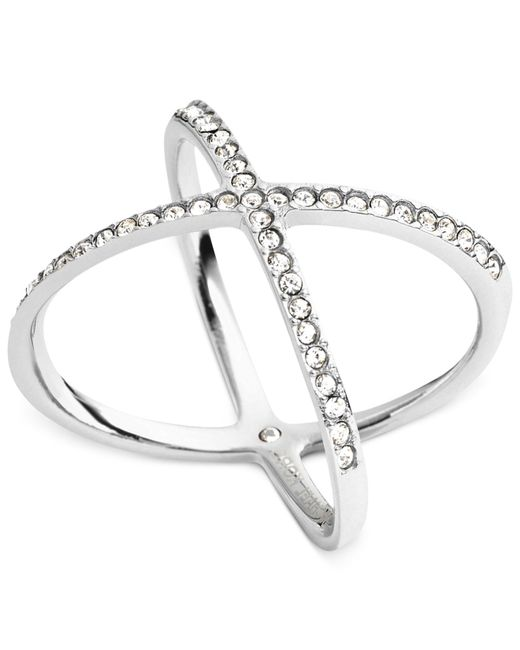 Michael Kors | Metallic Circle X Ring | Lyst