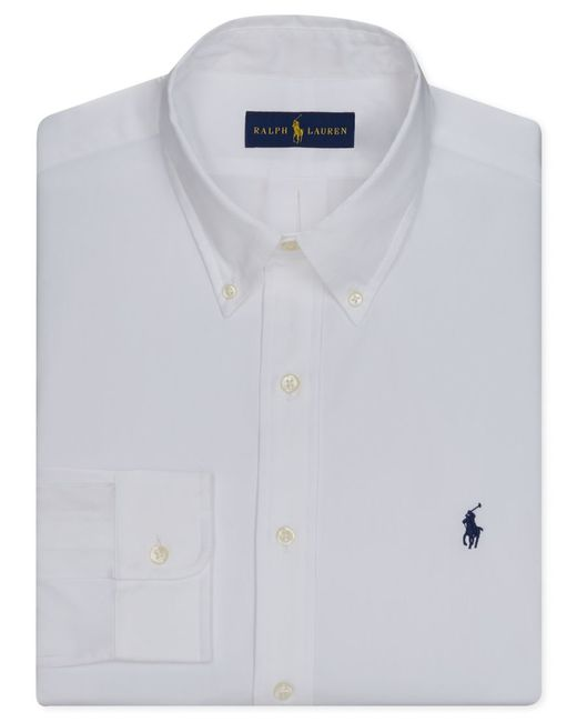 Polo Ralph Lauren Men 39 S Pinpoint Oxford Solid Dress Shirt