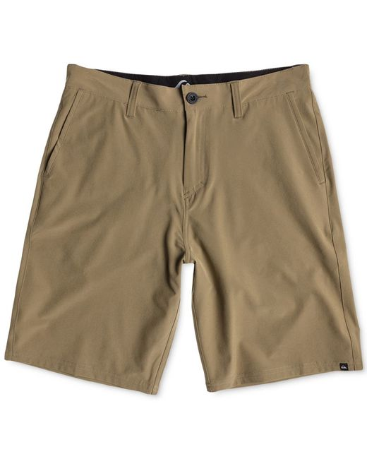 Quiksilver | Brown Men's Everyday Solid Hybrid Shorts for Men | Lyst