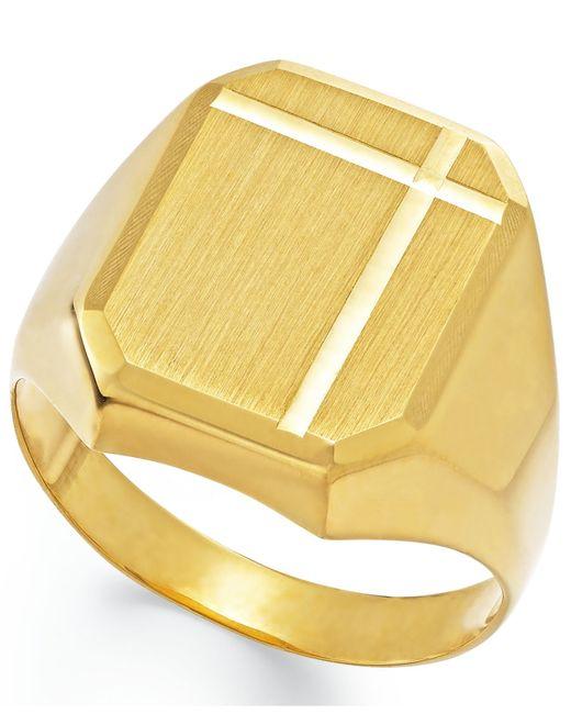 Macy's   Metallic Men's Polished Ring In 14k Gold   Lyst