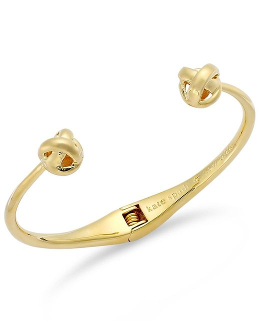 Kate Spade | Metallic Gold-tone Knot Cuff Bracelet | Lyst