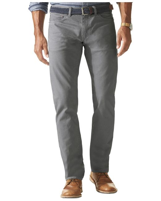 Dockers | Gray Jean Cut Khaki Slim Fit Stretch Flat Front Pants for Men | Lyst