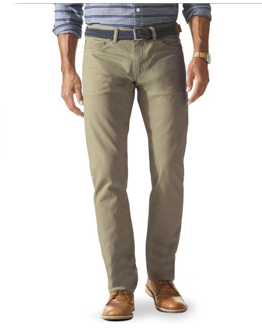 Dockers Slim Fit Flat Front Jean Cut Khaki Pants In