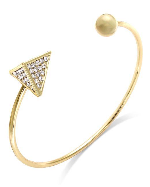 ABS By Allen Schwartz | Metallic Crystal Pyramid Cuff Bracelet | Lyst