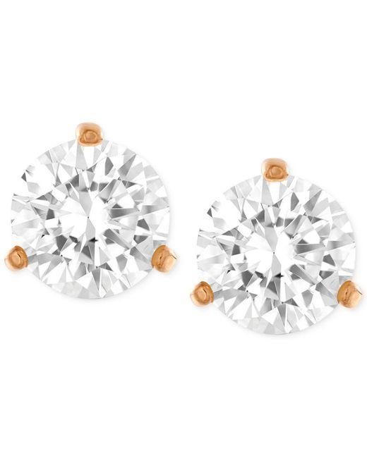 Swarovski   Metallic Gold-tone Crystal Stud Earrings   Lyst