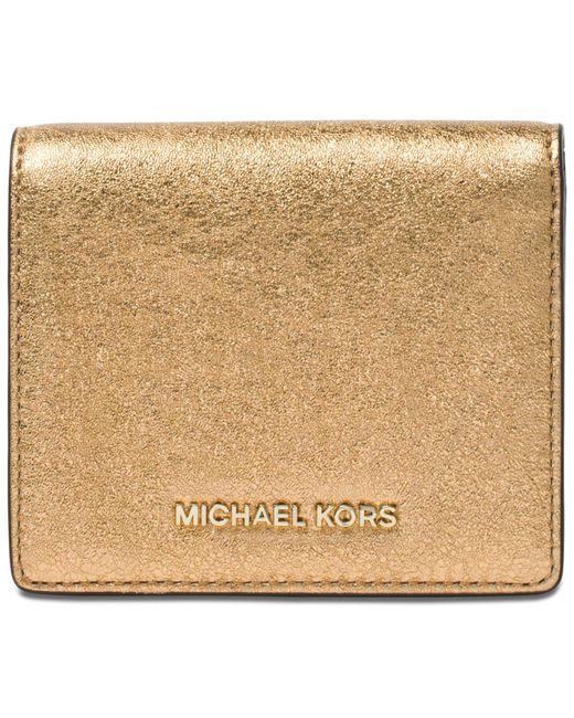 Michael Kors | Metallic Money Pieces Flap Card Holder | Lyst