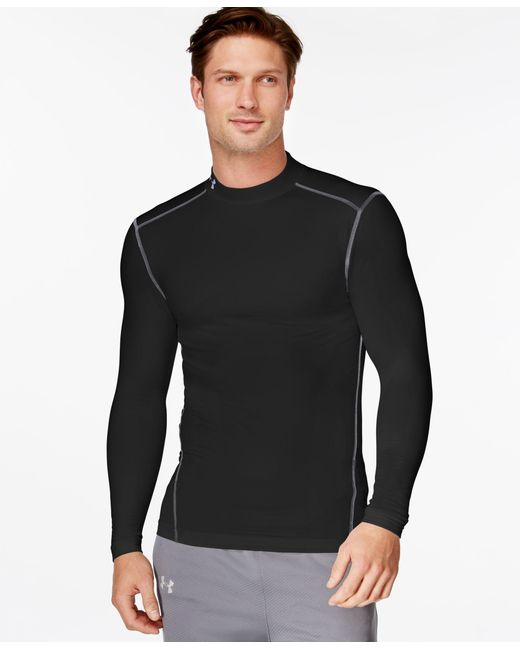 Under Armour | Black Men's Coldgear Mock Neck Long-sleeve T-shirt for Men | Lyst