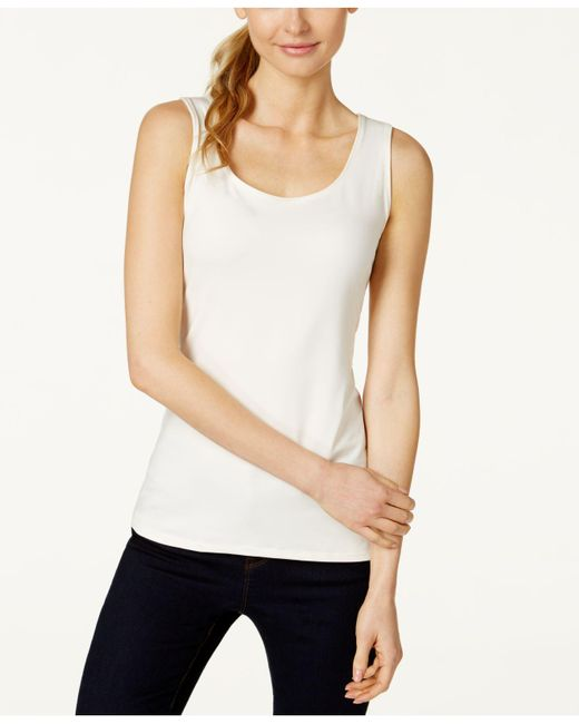 Charter Club | Yellow Petite Sleeveless Shell, Only At Macy's | Lyst