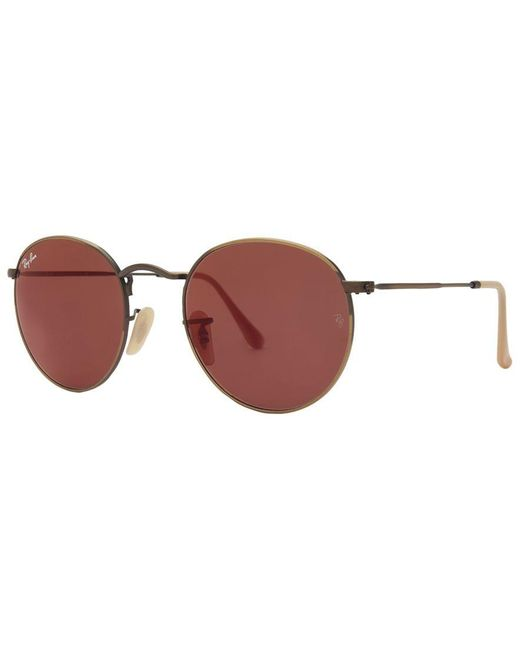 Ray-Ban | Brown Sunglasses, Rb3447 50 Round Metal | Lyst