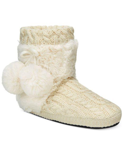 Muk Luks | White Women's Coralee Boot Slippers | Lyst