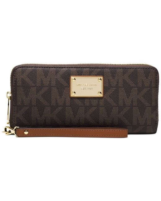 Michael Kors | Brown Michael Jet Set Item Travel Continental Wallet | Lyst