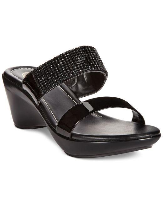 Callisto   Black Jezzie Sandals   Lyst