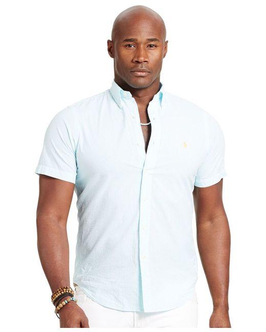 Polo Ralph Lauren | Blue Men's Big & Tall Check Seersucker Shirt for Men | Lyst