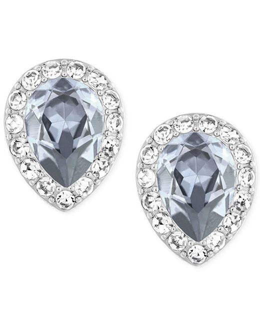 Swarovski | Metallic Rhodium-plated Christie Pear Crystal Earrings | Lyst