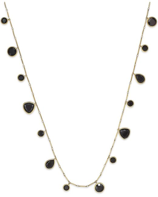 kate spade new york   Black Gold-tone Twinkle Lights Wrap Necklace   Lyst