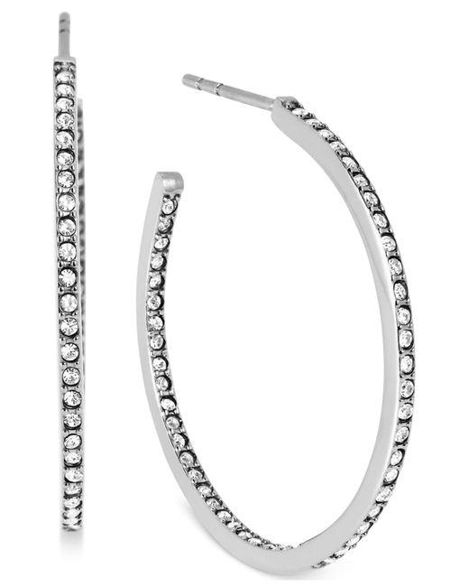 Michael Kors | Metallic Crystal Pavé Small Hoop Earrings | Lyst