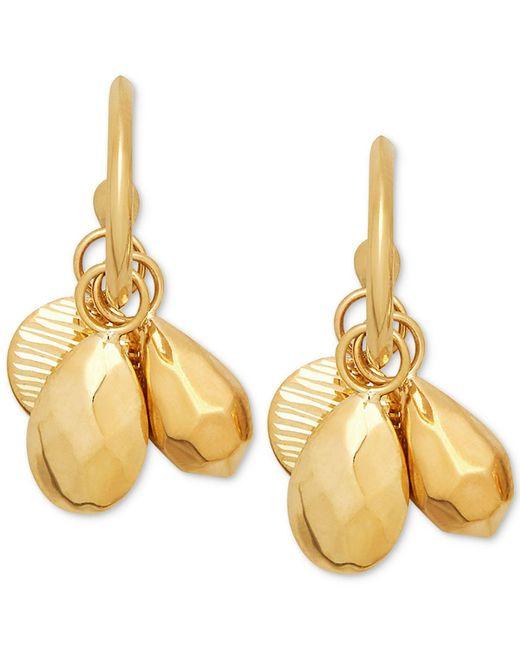 Macy's - Metallic Shaky Bead Hoop Earrings In 10k Gold - Lyst