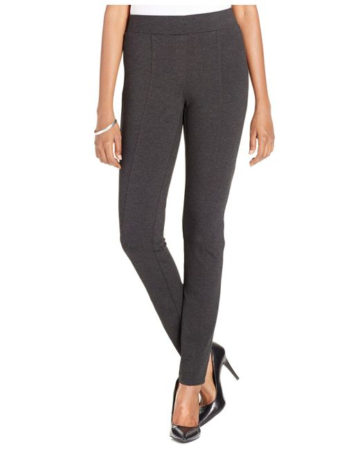Style & Co. | Gray . Petite Stretch Ponte Leggings, Only At Macy's | Lyst