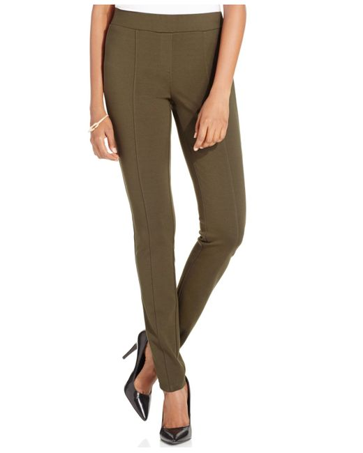 Style & Co. | Green Stretch Seam-front Ponte Pants | Lyst