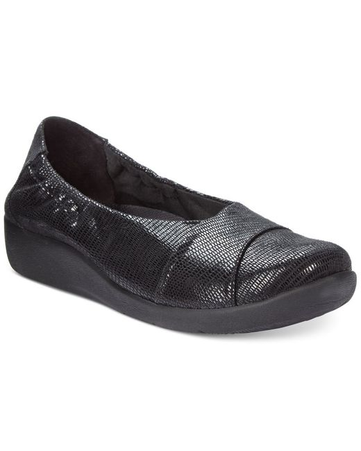 Clarks   Black Collection Women's Cloud Steppers Sillian Intro Flats, Only At Macy's   Lyst