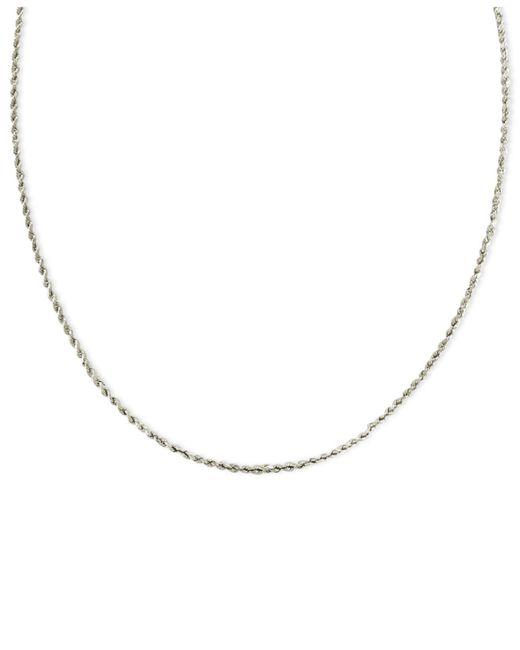 Macy's - Diamond Riviera Chain Necklace In 14k White Gold (10 Ct. T.w.) - Lyst