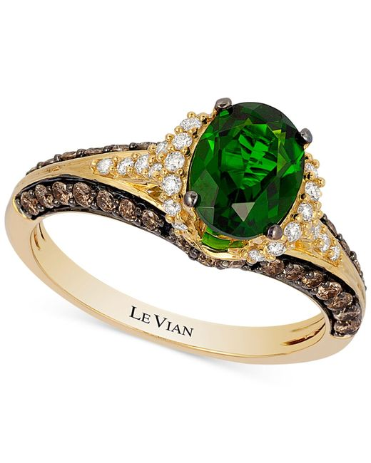 Le Vian | Metallic Chrome Diopside (1-1/10 Ct. T.w.) And Diamond (2/3 Ct. T.w.) Ring In 14k Gold | Lyst