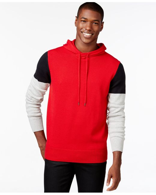 Sean John | Red Men's Colorblocked Hoodie Sweater, Only At Macy's for Men | Lyst