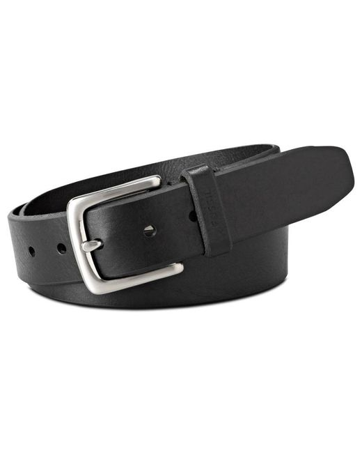 "Fossil | Black Joe ""big & Tall Casual Leather Belt for Men | Lyst"