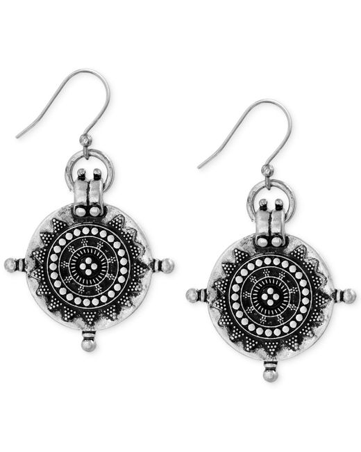 Lucky Brand   Metallic Silver-tone Coin Drop Earrings   Lyst
