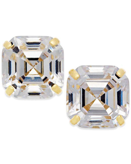 Macy's | Metallic Cubic Zirconia Stud Earrings In 10k Gold | Lyst