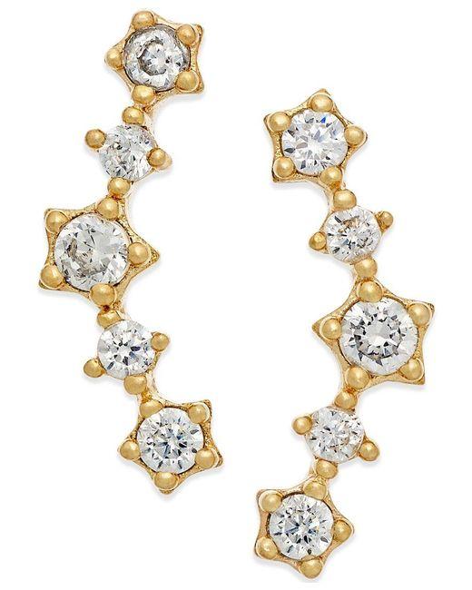 Macy's | Metallic Cubic Zirconia Ear Crawlers In 10k Gold | Lyst