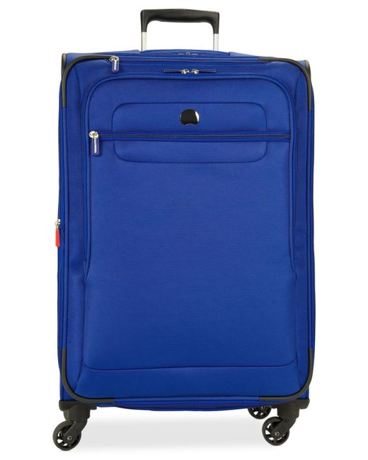 "Delsey | Blue Helium Fusion 25"" Expandable Spinner Suitcase for Men 