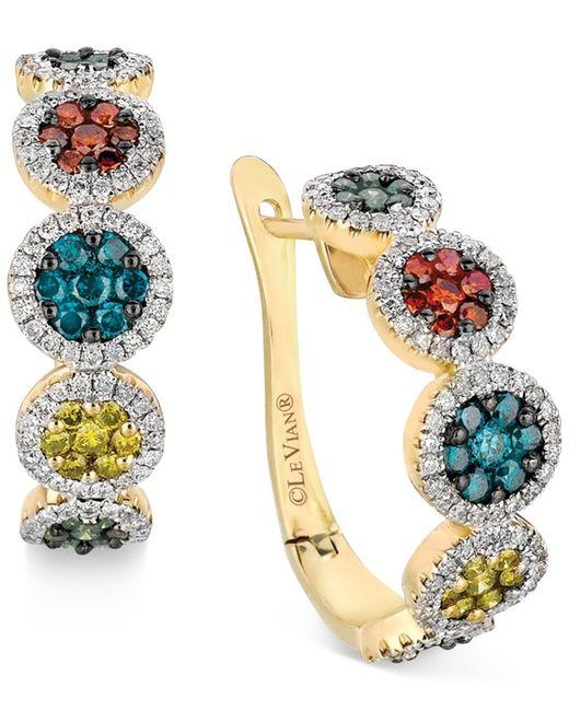 Le Vian | Metallic Multicolor Diamond Hoop Earrings (1-1/2 Ct. T.w.) In 14k Gold | Lyst